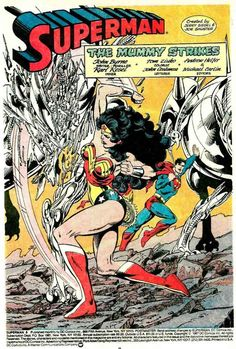 Wonder Woman and Superman by John Byrne. Comic Book Artists, Comic Book Characters, Comic Artist, Comic Character, Comic Books Art, Book Cover Art, Comic Book Covers, Action Comics 1, Marvel Comics