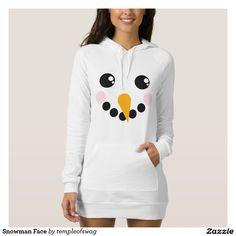 Snowman Face T-shirt dress #hoody #snowman #dress #hoodydress #snowman #face