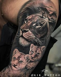 ekg tattoo with name ; Lioness And Cub Tattoo, Lion Cub Tattoo, Cubs Tattoo, Lion Head Tattoos, Daddy Tattoos, Mens Lion Tattoo, Leg Tattoo Men, Foot Tattoos, Flower Tattoos