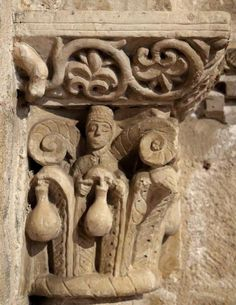 Capitel con acantos - San Claudio de Olivares, Zamora