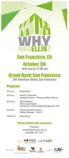 ¿Por qué Medellín? & #MedelliNNovation en San Francisco, CA