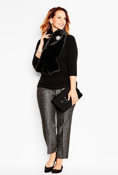 dbbafd31ab3 We ve given a classic tweed pant a party-ready makeover. Tweed Pants