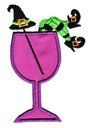 Witch Cocktail Applique - 4x4 | Halloween | Machine Embroidery Designs | SWAKembroidery.com Sealed With A Stitch