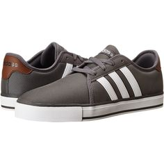 adidas SK LVS Shoes, Gray ($45) ❤ liked on Polyvore featuring shoes, grey, adidas footwear, stripe shoes, grey shoes, print shoes and gray shoes