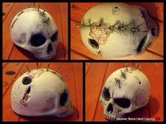 MOHAWK SKULL Skull Artwork, Skulls, Hand Carved, Artworks, Carving, Sculpture, Stone, Prints, Rock