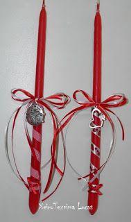 Πασχαλινές λαμπάδες Χειροτεχνημα - Handmade