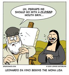 Da Vinci begins the Mona Lisa