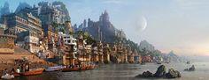 Munshi Ghat by ASHOK KUMAR DASS | Matte Painting | 2D | CGSociety