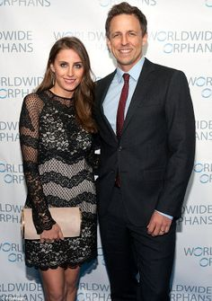 Scrubbing up: Seth Meyers and wife Alexi Ashe attend the Worldwide Orphans' annual gala at Cipriani Wall Street on Monday in NYC Human Rights Lawyer, Seth Meyers, New Wife, Outdoor Ceremony, Wall Street, Scrubs, Nyc, Husband, Couples