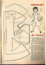 Doc/Clipping (Ref Rim 64) 04/1955 : PATRON POUPEE ROBE PRINTANIERE 1page