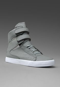 Supra Society Grey Canvas Sneakers, $144 Canvas Sneakers, Revolve Clothing, High Tops, High Top Sneakers
