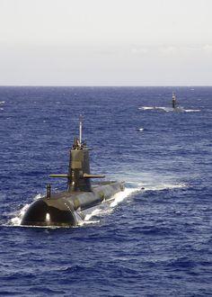 Royal Australian Navy Collins class submarine HMAS Rankin.
