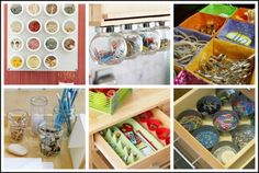 Simple containers make for really creative organization