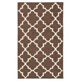 Found it at Wayfair - Dhurries Brown/Ivory Rug. Trendy pattern, neutral color. Maybe