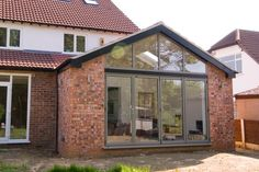 Photograph of completed single storey rear extension in Sale