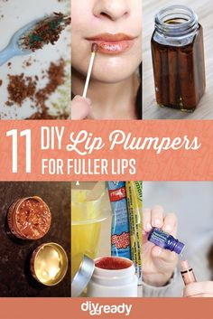 11 DIY Lip Plumper Ideas for Naturally Plump Lips | How To Make Lips Bigger Naturally - Beauty Tips by DIY Ready at http://diyready.com/diy-lip-plumper-ideas/