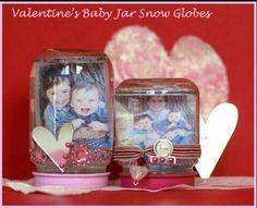 DIY Valentine's Baby Jar Snow Globe Craft Gift   G;)