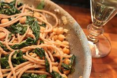 Recipe:  Chickpea and Chard Pasta: Something healthy on Pinterest? I'm confused.