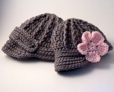 Twins Baby Boy Girl  Gray Newsboy Caps / Hat / Beanie - Knit / Crochet on Etsy, $45.00