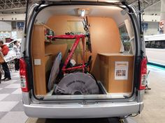 A trend at the show was to have a rear compartment tailored for outdoor gear