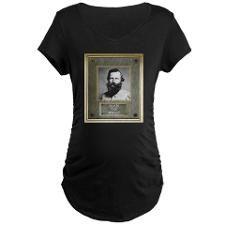 Bronze Plaque - Jeb Stuart Maternity T-Shirt  http://www.cafepress.com/Civil_War_1861_to_1865  http://www.cafepress.com/CivilWar1861to1865Part2  http://www.cafepress.com/USCivilWarColoredApparel