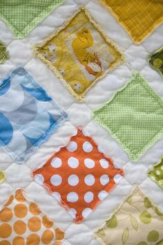 Raw edges super fast and easy baby quilt. Also  I have made darling table runners using Civil War type fabric.