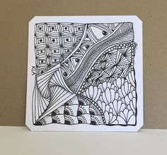 Reindeer Gift Tags and a Zentangle Tile