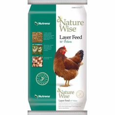 Nutrena® NatureWise® Layer Chicken Feed, 16% Pellets, 50 lb. -- NO added antibiotics or hormones