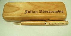 Personalized Pen Box & Pen by LaserCreationsCO on Etsy