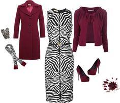 """Burgundy & Zebra"" by estes9011 ❤ liked on Polyvore"