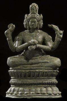 Bodhisatva becoming Vairochana Buddha