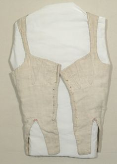 1800-25 Corset Bodice, English, Cotton	  Snowshill Wade Costume Collection, Gloucestershire  nationaltrustcollections.org.uk