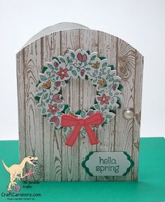 thejurassiccrafter @craftcarnivore Stampin Up Circle of Spring - very cleaver!