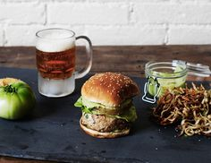 Fried Green Tomato Turkey Burgers
