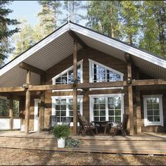 Lake House Plans, Small House Plans, Cabin Homes, Log Homes, Metal Building Homes, Building A House, Poll Barn House, Cabin Design, House Design