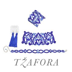 Custom set with cobalt blue and aqua - - Swarovski ballroom necklace. Ballroom dance jewelry, ballroom dance  dancesport accessories. www.tzafora.com Copyright ©️️ 2019 Tzafora. Cobalt Blue, Aqua, Ballroom Dance, Costume Jewelry, Swarovski, Jewelry Design, Engagement Rings, Costumes, Luxury
