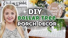 DIY Dollar Tree Porch Decor Ideas!!! | Easy Outdoor Projects Using Your Cricut! | Krafts by Katelyn - YouTube Thrift Store Crafts, Crafts To Sell, Summer Porch Decor, Cricut Explore Projects, Decor Ideas, Craft Ideas, Paddys Day, Dollar Tree Crafts, General Crafts