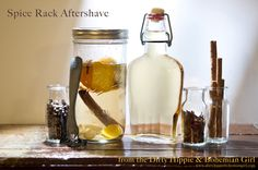 Make aftershave for the man in your life with ingredients from your spice rack!