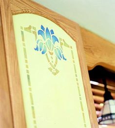 Stenciled Center Panel-moveable center panels for fickle decorators to change on a whim!
