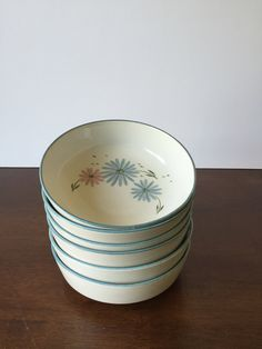 Vintage Franciscan Maytime Bowls, May Time Cereal Bowls, Soup Bowls, Serving Bowls, Vintage Bowls by GirlGoesVintage on Etsy