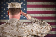 Volunteering with Blinded Veterans Leads to a Fulfilling Career at the Veterans Administration: a new blog post on VisionAware.org in honor of National Volunteer Week. (Image: a soldier saluting the American flag)