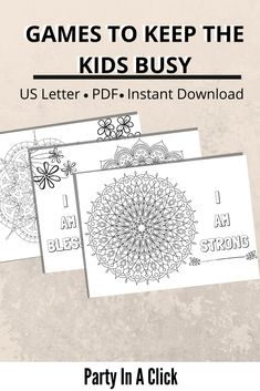 Positive Mandala Affirmation Coloring Pages Mandala Coloring Pages, Colouring Pages, Coloring Pages For Kids, Printing Services, Online Printing, Bachelorette Drinking Games, I Am Affirmations, Friends Tv Show, Business For Kids