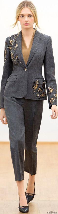 Escada Fall 2015 RTW women fashion outfit clothing style apparel @roressclothes closet ideas