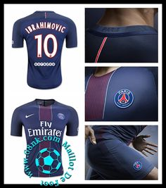 Site Fiable Maillot Foot Pas Cher PSG Maillot 2016/2017 (10 IBRAHIMOVIC) homme Domicile