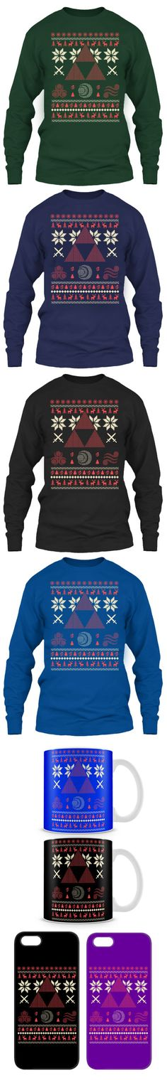 Limited Edition Ugly Christmas Sweater For Legend Of Zelda Fans! Click The Image To Buy It Now or Tag Someone You Want To Buy This For.