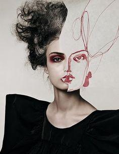 Tags: #strange #dress #photo #drawing #black