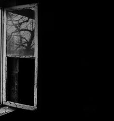 ☾ Midnight Dreams ☽ dreamy dramatic black and white photography - open window . . . (photographer unknown)