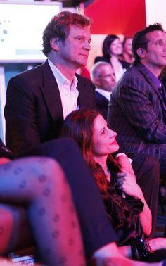 Colin and Livia Firth. Too adorable. Colin Firth, Uk Actors, Actors Images, Actors & Actresses, Hugo Cabret, Love Of A Lifetime, Matthew Perry, Mr Darcy, Bridget Jones
