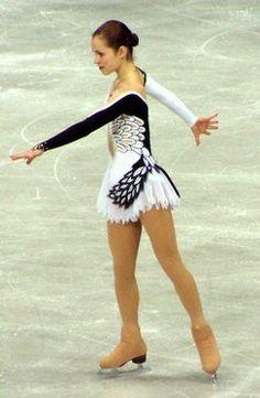 Sasha Cohen - White Figure Skating / Ice Skating dress inspiration for Sk8 Gr8 Designs.