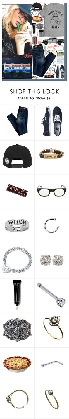 """""""You're nasty, disgusting and my mama doesn't want a thing to do with you. ♥"""" by loretta-mccoy ❤ liked on Polyvore featuring American Eagle Outfitters, Vans, Chanel, Urban Decay, eyebobs, ZIG-ZAG, Tiffany & Co., Bobbi Brown Cosmetics and Orelia"""